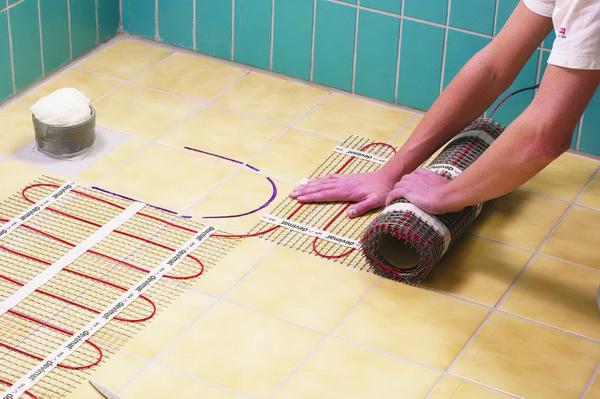 Тёплый пол в ванной